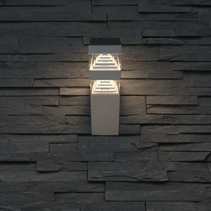 Applique Pyramide 32 led finition Inox 230V