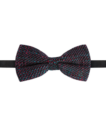 Black and Pink Woven Bow Tie