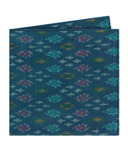 Bright Blue Ikat Pocket Square