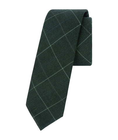 Classic Plaid Green Tie