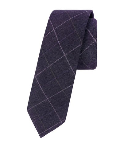 Classic Plaid Purple Tie