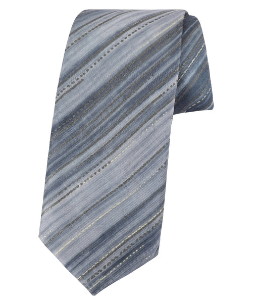 Diagonal Pinstripes Blue Tie