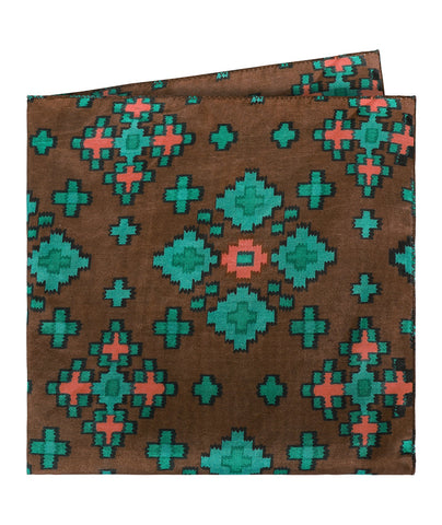 Geometric Floral Print Pocket Square