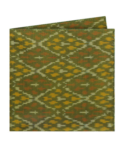 Green Ikat Pocket Square