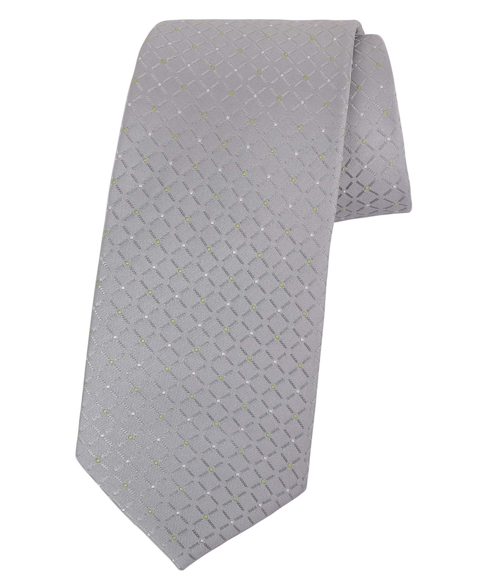 Grey with Green Dots Tie