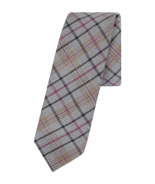 Brown Plaid Tie