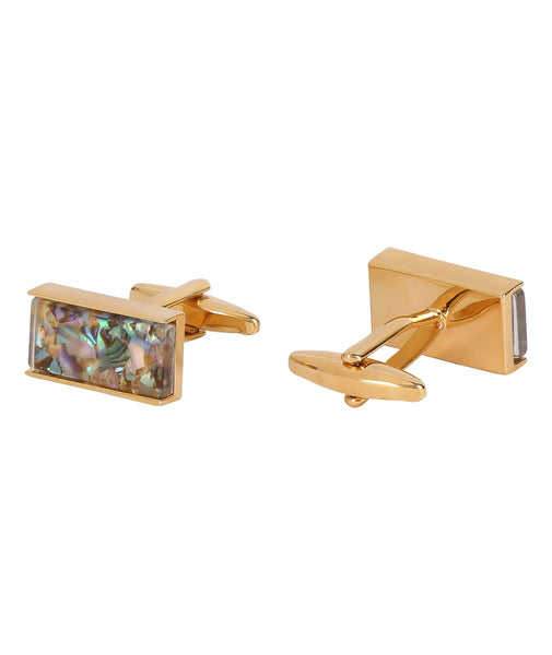 Marble Rectangle Mother of Pearl Cufflink