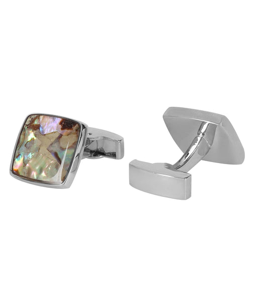 Marble Square Mother of Pearl Cufflink