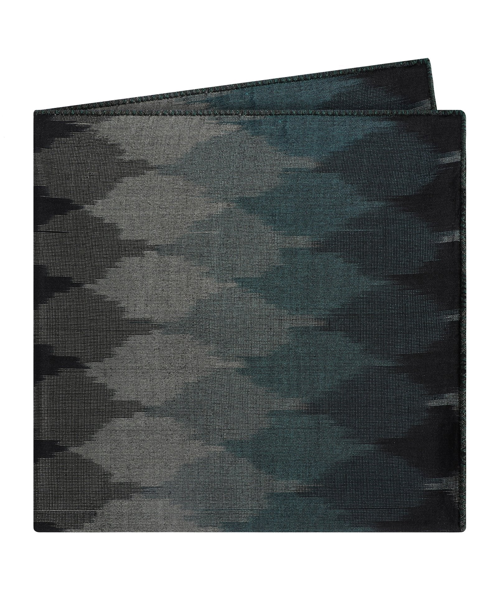 Midnight Sky Hues Ikat Pocket Square