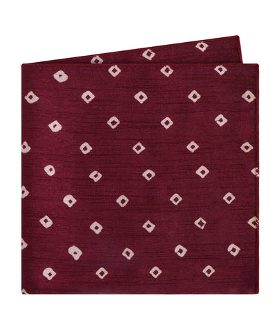 Purple Bandhani Pocket Square