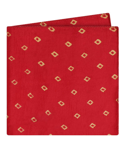 Red Bandhani Pocket Square