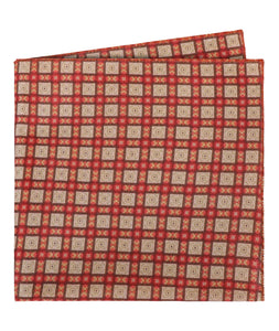 Red Squares Pocket Square