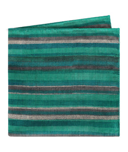 Stripes Green Pocket Square