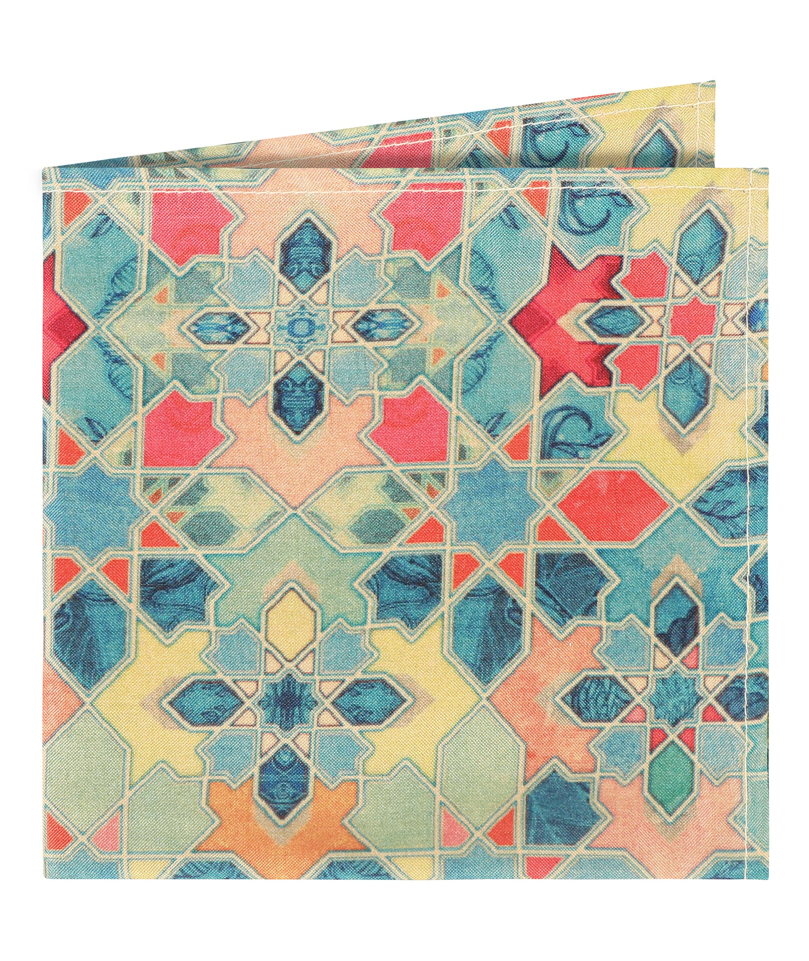 Kaleidoscope Print Pocket Square
