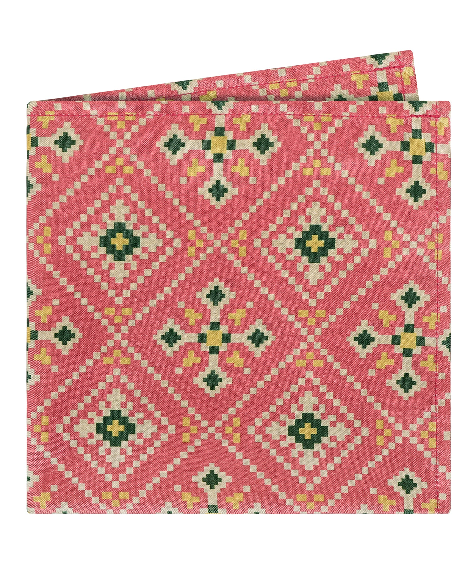 Pink Patola Print Pocket Square