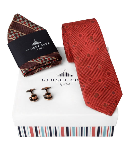 The Everyday Tie-Chai and Pocket Square Gift Set