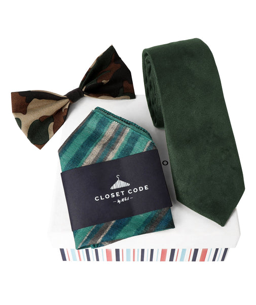The Sleek Military Green Gift Set