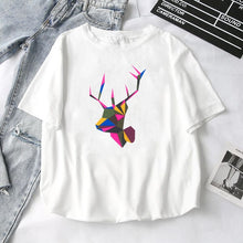 Load image into Gallery viewer, Women T-Shirts 2019 Summer New Cute Animal Girls Printed Tops Tee Female T-shirt Short Sleeve White tshirt for Lady Casual Top