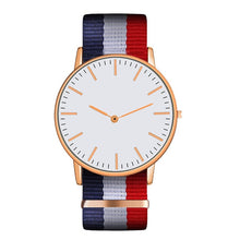 Load image into Gallery viewer, Hot Ultra Slim Quartz Watch Simple Nylon Band Relogio Masculino Fashion woman men Wristwatches 18 Styles