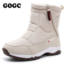 Load image into Gallery viewer, GOGC women boots Women's Winter Boots Shoes woman snow boots Women's Boots Winter Boots for Women Winter Shoes ankle boots G9906