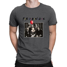 Load image into Gallery viewer, 100% Cotton T-shirt Horror Friends Pennywise Michael Myers Jason Voorhees Halloween Men T-Shirt Cotton Tshirts for men and women