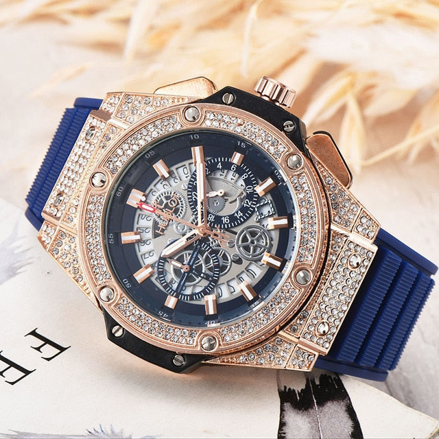 FOSSIL Luxury Men Watch Fashion AAA Quartz Watches with Silicone Watch for Men Wristwatch relojes para hombre