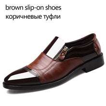 Load image into Gallery viewer, REETENE Fashion Business Dress Men Shoes 2019 New Classic Leather Men'S Suits Shoes Fashion Slip On Dress Shoes Men Oxfords