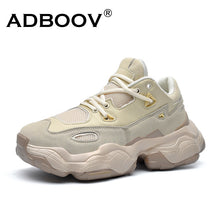 Load image into Gallery viewer, ADBOOV 2019 New Genuine Leather Sneakers Men Women Plus Size 35-47 Designer Chunky Shoes Breathable Platform Casual Shoes