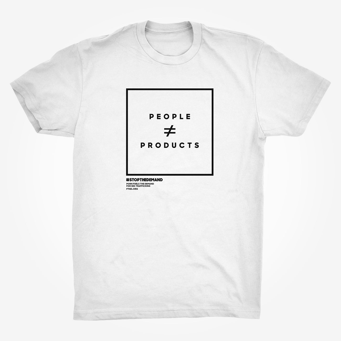 'People ≠ Products' - White