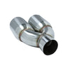 "Universal Exhaust Tip, T304 Stainless Steel - 2.5"" Inlet x Dual 3.5"" Out"