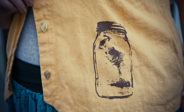 Original mason jar screen print.