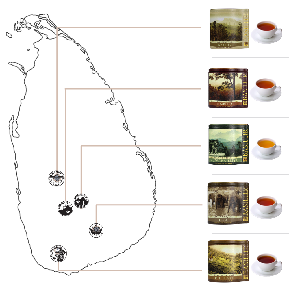 Basilur Regional Teas of Ceylon Tea