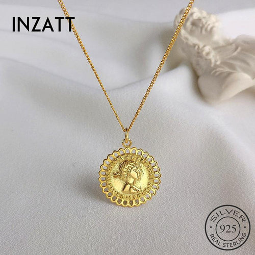 Inzatt collier à cryntif or \ \ 124; Silver Sterling 925, vintage, for women model, fine punk jewelry, accessories, gifts, 2019