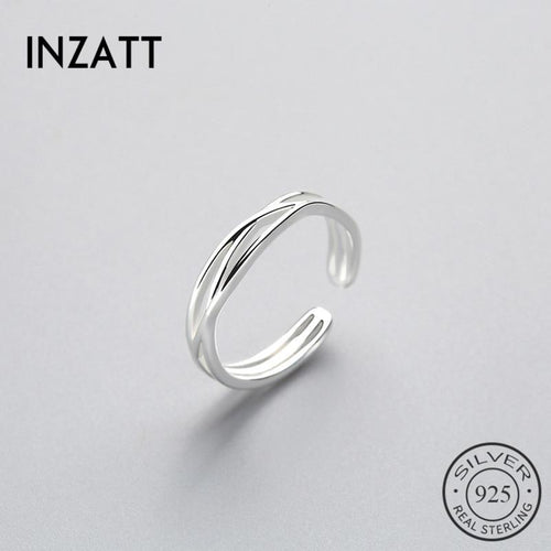 Inzatt minimum twist ring 100% 925 silver pounds for women's birthday gift classic fashion jewelry accessories  gift