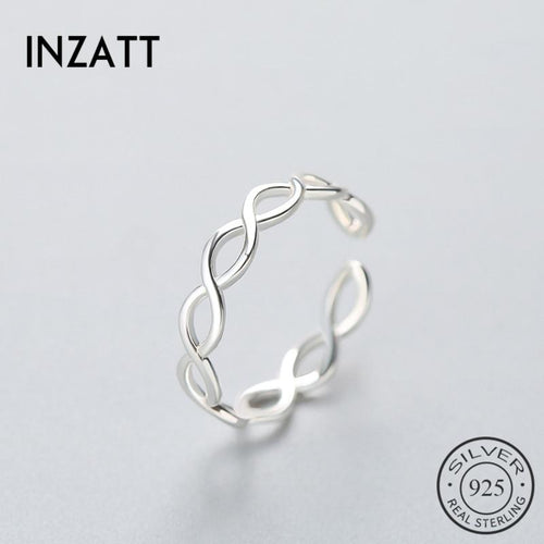 Inzatt classic real 925 Sterling Silver Circle for women's knitting ring Festival fine jewelry Anillos mujer gift new  hot gift