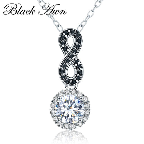 Vintage 925 Sterling silver necklaces & pendants fashionable engagement necklaces for Women silver jewelry 925 P036
