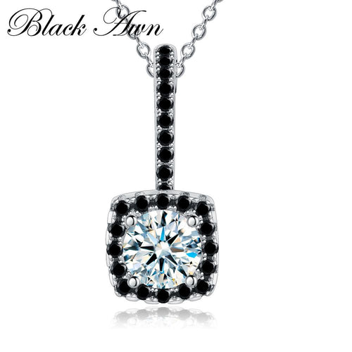 Vintage 925 Sterling silver jewelry fashionable engagement necklaces for Women wedding necklaces pendants jewelry P051