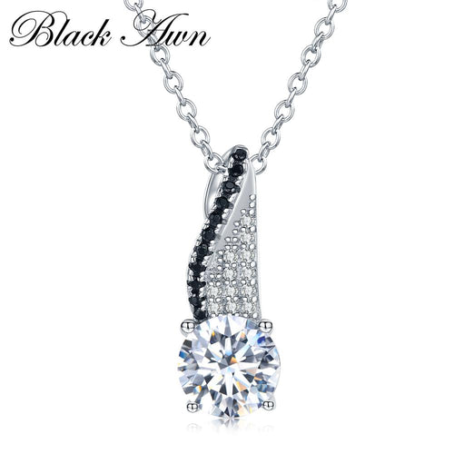 Vintage 925 Sterling silver necklaces pendants Fine jewelry fashionable engagement necklace for Women wedding pendants P039