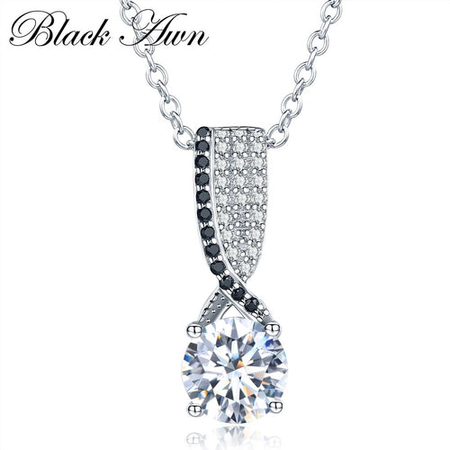 Vintage 4g 925 Sterling silver necklace fashionable engagement necklaces for Women wedding pendants jewelry P013