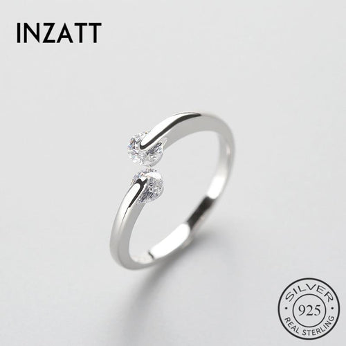 Inzatt's new arrival AAA zircon ring 100% 925 silver pounds or rose women's birthday gift fashion penis women's gift