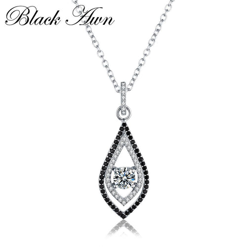 Classic 925 Sterling silver jewelry necklaces pendants fashionable engagement necklaces for Women wedding pendant P088
