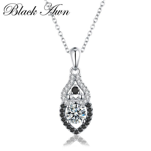 Romantic 925 Sterling silver jewelry fashionable engagement Punk necklaces for Women wedding pendants jewelry P098
