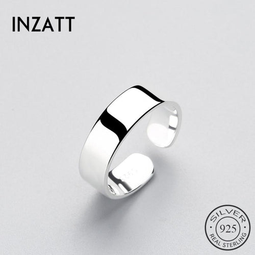 Inzatt high grade real 925 silver rings Sterling style minimum feminine charm part smooth surface jewelry brinkos fashion
