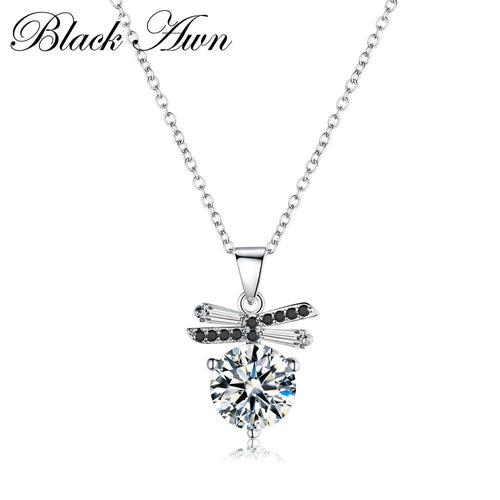 Classic genuine 100% 925 Sterling silver slide necklace women Vintage jewelry woman necklaces & pendants P099