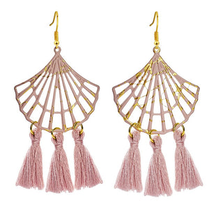 H: HYDE mode bohème grand gland boucles d'oreilles déclaration grand or fait main Brincos Drop