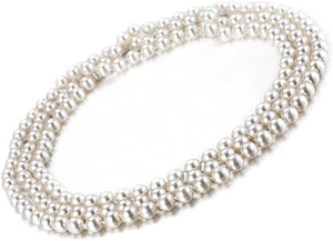 collier femme perles blanche