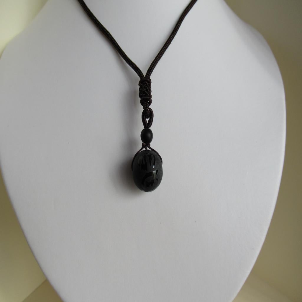 collier onyx homme
