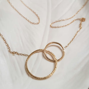 collier or femme cercle