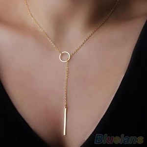 collier or femme simple
