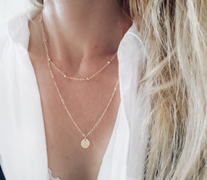 collier or femme tendance
